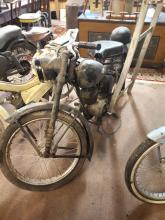 1950's BSA Bantem motor cycle Reg. BHI 484, 150CC engine, with tax disc.