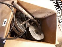 Two boxes of misc. BSA motorcycle parts.