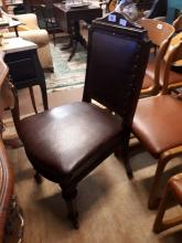 Edwardian mahogany desk chair.