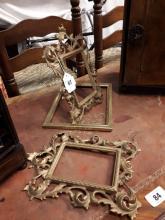 Three 19th. C. brass mirror frames.