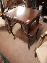 Edwardian mahogany card table.