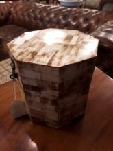Victorian bone concertina box.