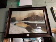 Water Scene coloured print.