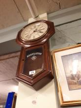 19th. C. mahogany Regulator wall clock.