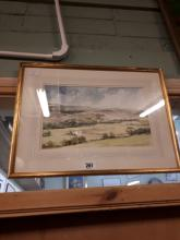 Eddie Lowden Rural Scene Watercolour.