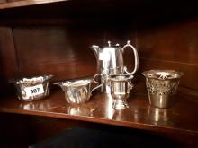 Misc. lot of silver plate.