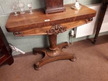 William IV rosewood TOL card table.