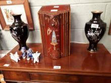 Pair of Oriental cloisonné vases.