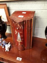 Oriental laquered knife box.