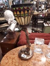 Pair of Tiffany table lamps.