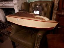 19th. C. wooden pond boat