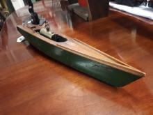 Model of a speed boat Maple Leaf by A.W Gamage. London.