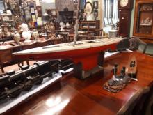 19th. C. wooden pond yacht.