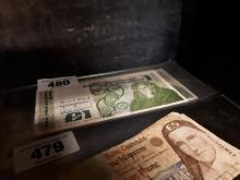 Four  Irish £1  O'Carolan  notes - 6.1 86 { 2} , 23.8.88 & 16. 3.89.