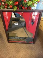 Music themed mirror.