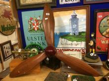 Wooden aeroplane propeller.