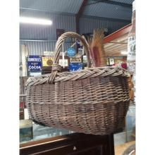 Wicker shopping basket.