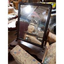 Victorian mahogany dressing table mirror.