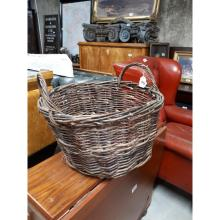 Wicker turf basket.