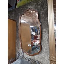 Edwardian mahogany framed mirror.