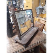 Regency mahogany inlaid dressing table mirror.