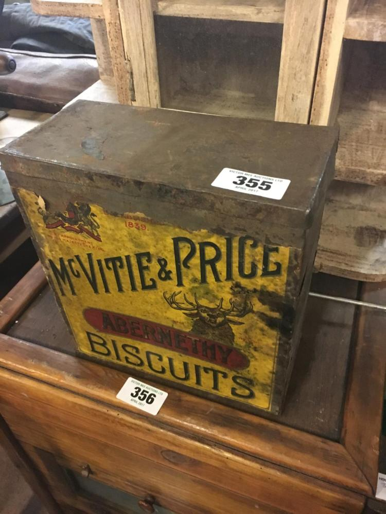 Original late 19th. C. MCVITIE AND PRICE biscuit tin.750 x 1000 jpeg 95kB