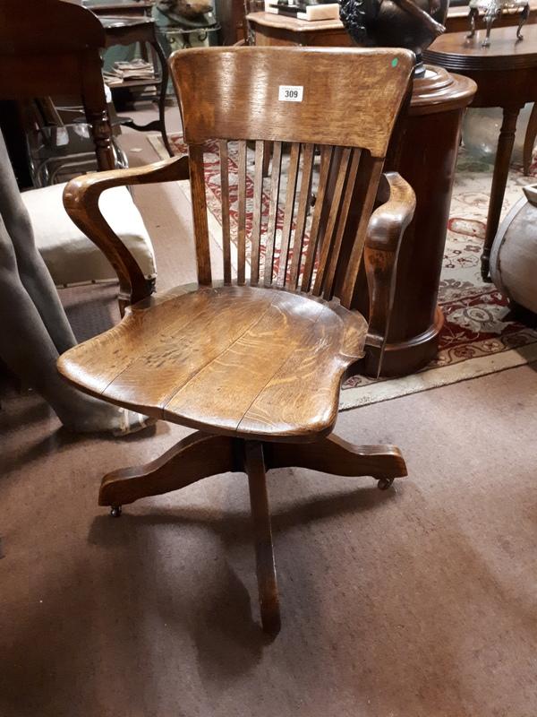 1940 39 S Oak Office Chair