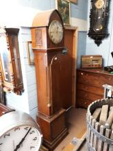 Early 19th. C. inlaid mahogany long cased clock with triple fusee movement