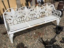 Cast iron four seater garden bench.