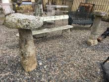 Two 18th. C. granite staddle stones.