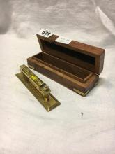 Brass gun level in original box.