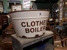 1920's enamel clothes boiler.