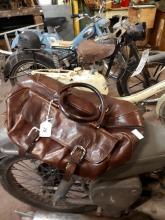 Vintage leather holdall.