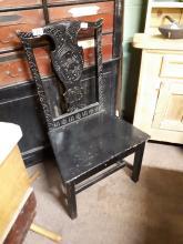 18th. C. oak provincial side chair.