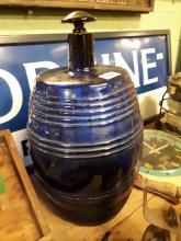 19th. C. Bristol Blue glass wine dispenser.