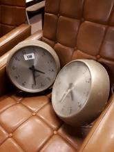 Two Gents wall clocks.