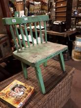 19th. C. painted hedge chair originally from Co Fermanagh.
