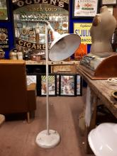 1930's standard angle poise lamp with enamel shade.