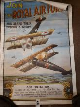 Join The Royal Air Force and Share in Their Honour and Glory poster.