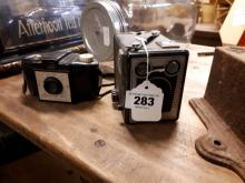Two 1950's Brownie cameras.
