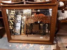 Mc Connell's Old Irish Whiskey Belfast advertising mirror. { 87cm H X 104cm