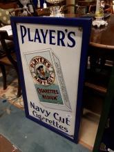 Player's Navy Cut  Cigarettes enamel sign.