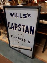 Will's Capstan Cigarettes enamel sign.