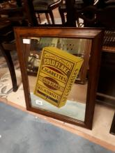 Gold Flake Cigarette advertising mirror.