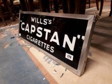 Will's Capstan Cigarettes glass advertisement.
