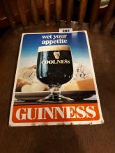 Guinness Wet Your Appetite show card.