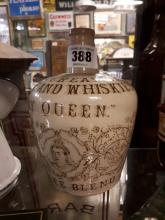 19th. C. stone ware flagon The Cream of Highland Whiskey .