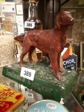 Ireland's Liqueurs advertising model of a Red Setter dog.