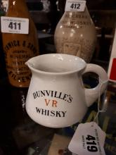 Dunville's VR Whiskey ceramic advertising jug by J. A. Campbell, Belfast.
