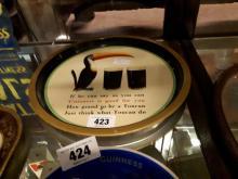 Guinness Toucan advertising tray.